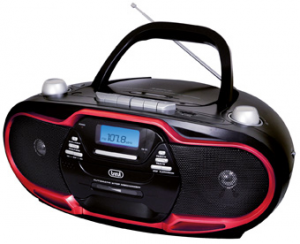 Trevi 057402 impianto stereo portatile Digitale 20 W Nero, Rosso