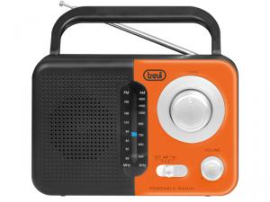 Trevi RA 768 S Portatile Analogico Nero, Grigio, Arancione radio