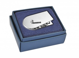 Memoclip golf in silver plated