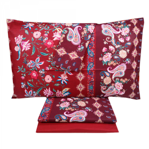 Bassetti bed sheets complete with Granfoulard FABRIANO bordeaux