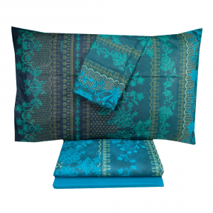 Complete double bed Granfoulard Bassetti FERMO turquoise