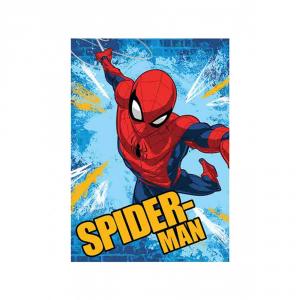 Plaid in pile 100x150 cm SPIDERMAN coperta Uomo Ragno per bambini