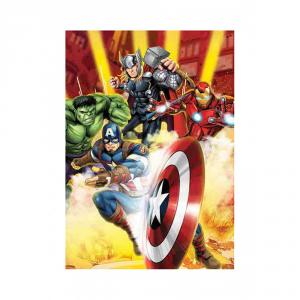 Plaid in pile 100x150 cm Marvel AVENGERS coperta per bambini