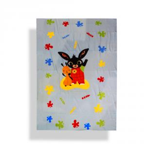 Plaid in pile 150x210 cm singolo Bing Bunny azzurro coperta per bambini