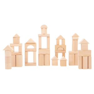 Cubetti da costruzione in legno Natura