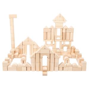 Cubetti da costruzione in legno Natura confezione grande