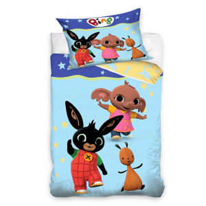 BING BUNNY single duvet cover and pillow case for children Amici di Bing
