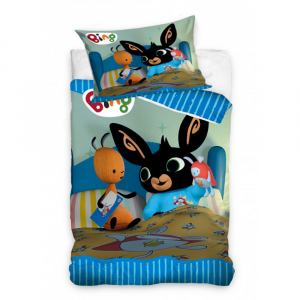 BING BUNNY single duvet cover and pillow case for children BING and FLOP