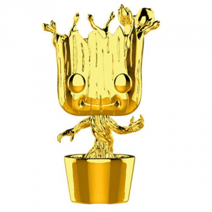 FUNKO POP! Marvel Studios: The First Ten Years Gold Chrome GROOT