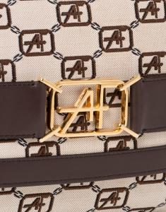 Borsa a spalla con logo AF jacquard
