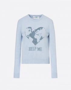 Pullover Help Me azzurro