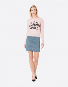 Pullover It's a wonderful world rosa