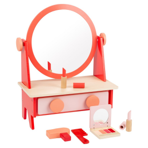 Tavolo da trucco giocattolo retrò con specchio