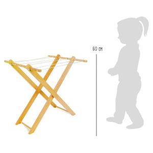 Stendino giocattolo in legno per vestiti delle bambole
