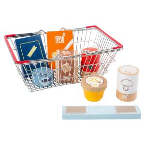 Set alimenti nel cestino della spesa