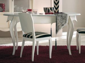 Tavolo ovale apribile gambe sagomate 160-200 cm