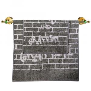 Coppia di asciugamani set 1+1 in spugna Carrara ACADEMY grigio