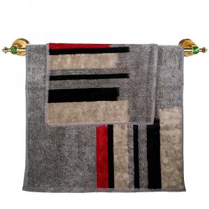 Asciugamano e ospite set 1+1 in spugna Carrara ORSAY grigio