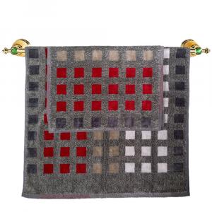 Asciugamano e ospite set 1+1 in spugna Carrara MUSEUM grigio