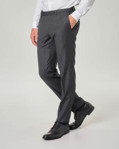 Abito micro pied de poule grigio antracite in tela di lana