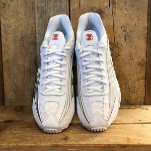 Scarpa Nike Shox R4 Bianca/Argento