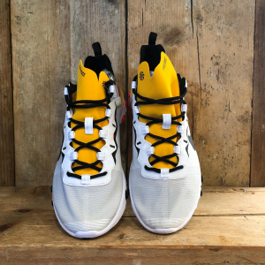 Scarpa Nike React Element 55 Bianca/Gialla/Arancione