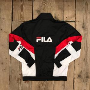 Felpa Fila Talbot Track Jacket Nera Bianca Rossa