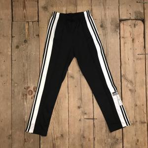 Pantalone Adidas Nero Con Bottoni e Righe Laterali