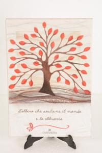 Cartapietra Portachiavi Albero della Vita 24x17 cm-2
