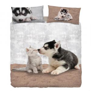 Bassetti Set Copripiumino singolo con gatto MY FRIENDS