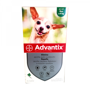 ADVANTIX CANI fino a 4 kg - antiparassitario in pipette