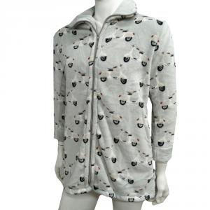 Vestaglia in pile con cerniera DAUNEX VESPA grigio motorini unisex