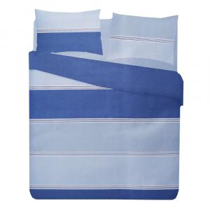Copripiumino singolo 1 piazza con federa in puro cotone SIMONA blu