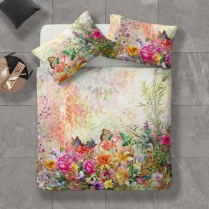 Copripiumino matrimoniale e federe Flower Power 1943 fiori multicolore