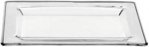Vassoio rettangolare in vetro trasparente