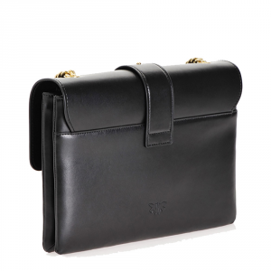 Big Love Bag Soft in pelle nera - PINKO