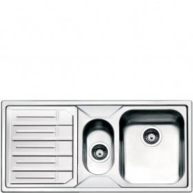 Smeg LPE102S Lavandino da cucina top-mount Rettangolare Acciaio inossidabile lavello