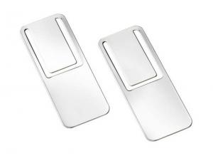 Segnalibro argentato argento silver plated 2 pezzi cm.7,8x3x0,2h