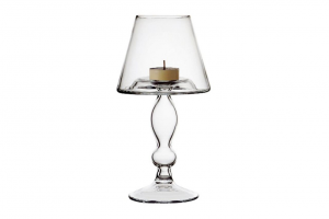 Candeliere in vetro cm.23,5h diam.13,2