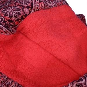 Plaid in pile invernale imbottito 140x180 Daunex Paisley corallo interno agnellato