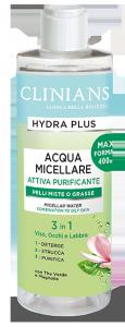 Clinians Acqua Micellare Attiva Purificante Pelli miste o grasse 400 ml