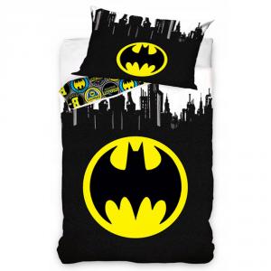 Single Bettbezug und Kissenbezug für Kinder BATMAN reine Baumwolle schwarz