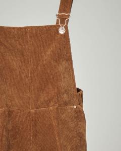 Salopette in velluto color cammello 10-14 anni