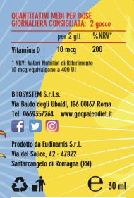 Capitan D  - Vitamina D per Bambini in gocce in Olio Extra Vergine di Oliva Biologico italiano