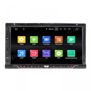 ANDROID 9.0 6.9 pollici navigatore autoradio 2 DIN universale GPS DVD USB SD WI-FI Bluetooth Mirrorlink