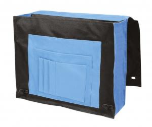 Borsa portadocumenti blu cm.37,5x12,5x30h