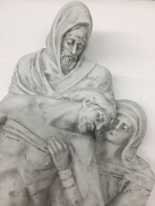 Placca Pietà in Biscuit di Porcellana