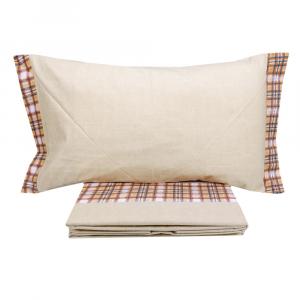 Lenzuola invernali letto piazza e mezza caldo cotone CHAMONIX scozzese