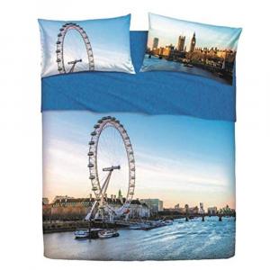 Set lenzuola singolo 1 piazza BASSETTI LONDON EYE effetto copriletto