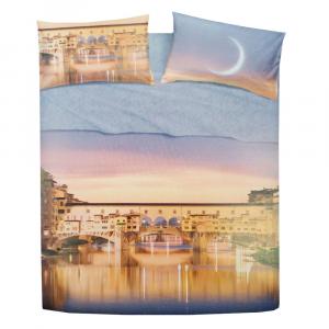 Set lenzuola letto singolo 1 piazza BASSETTI FIRENZE effetto copriletto